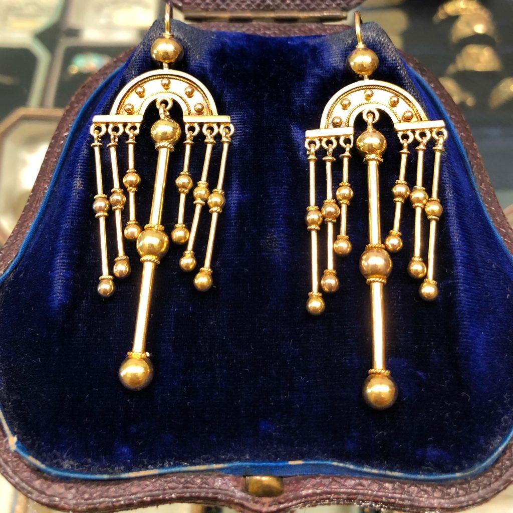 antique earrings sydney - gold vintage earrings australia