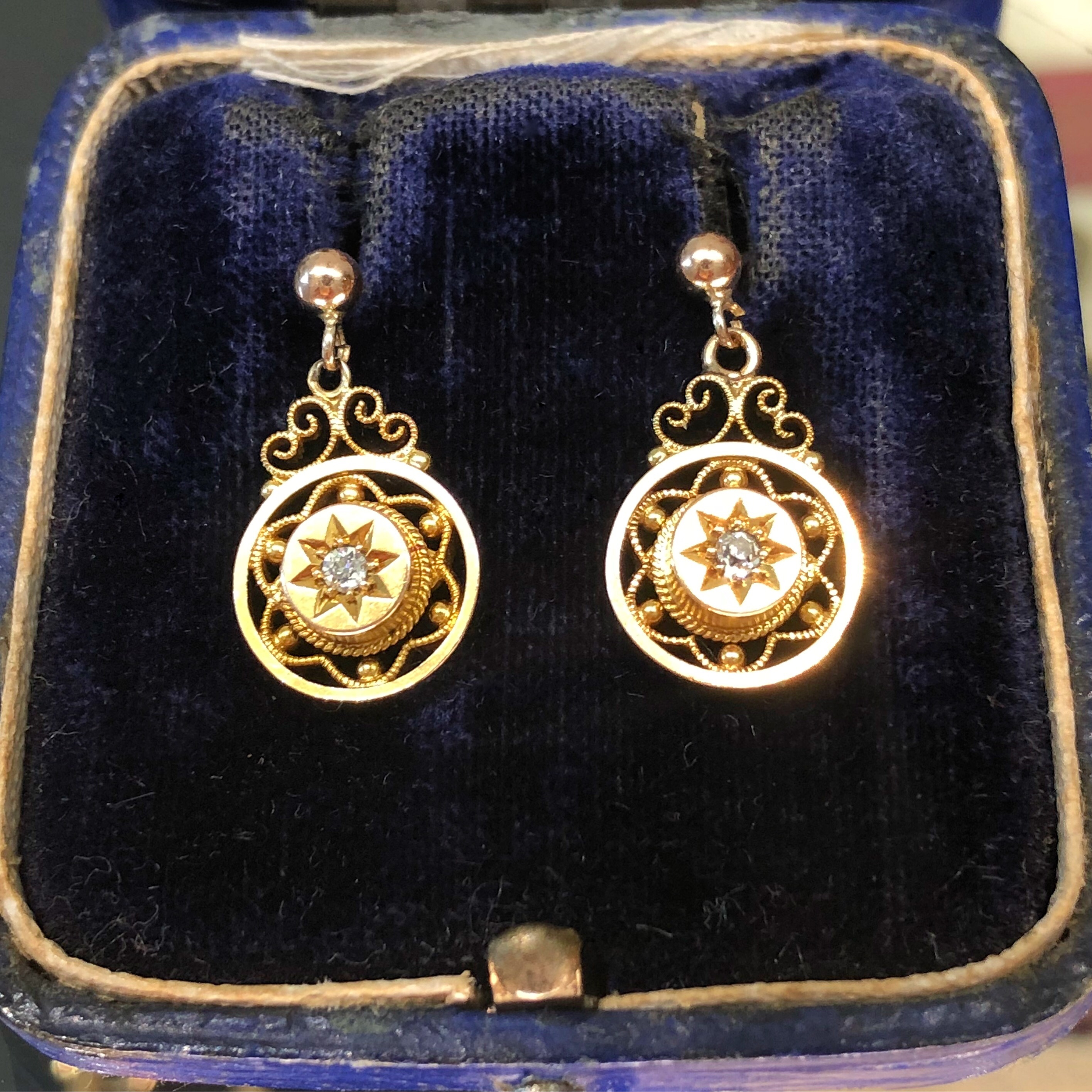 buy diamond shop store swasam to com gold jhumka antique jewelry earrings indian